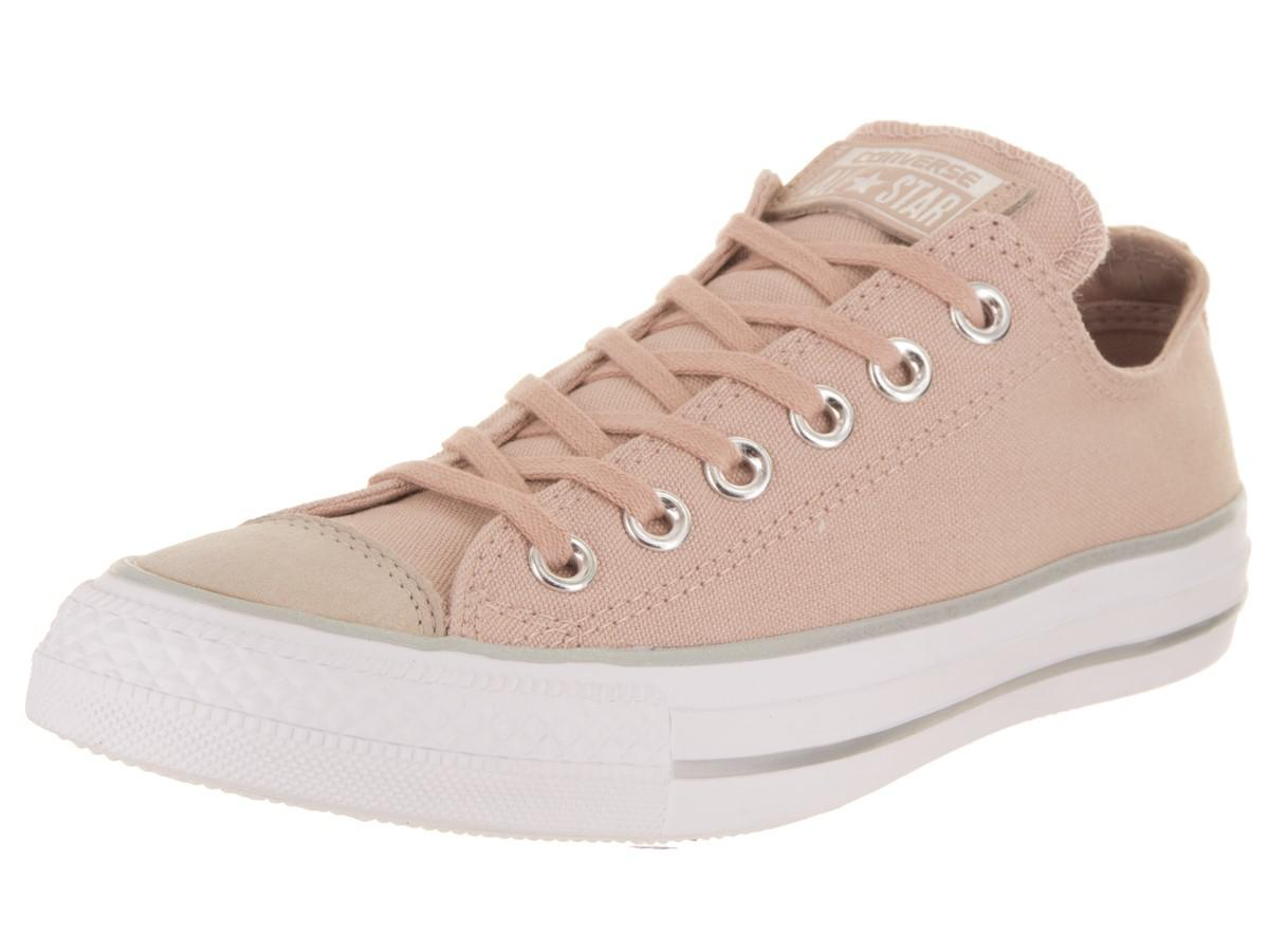 Lyst - Converse Chuck Taylor All Star Ox Particle Beige silver white ... 629217d6e