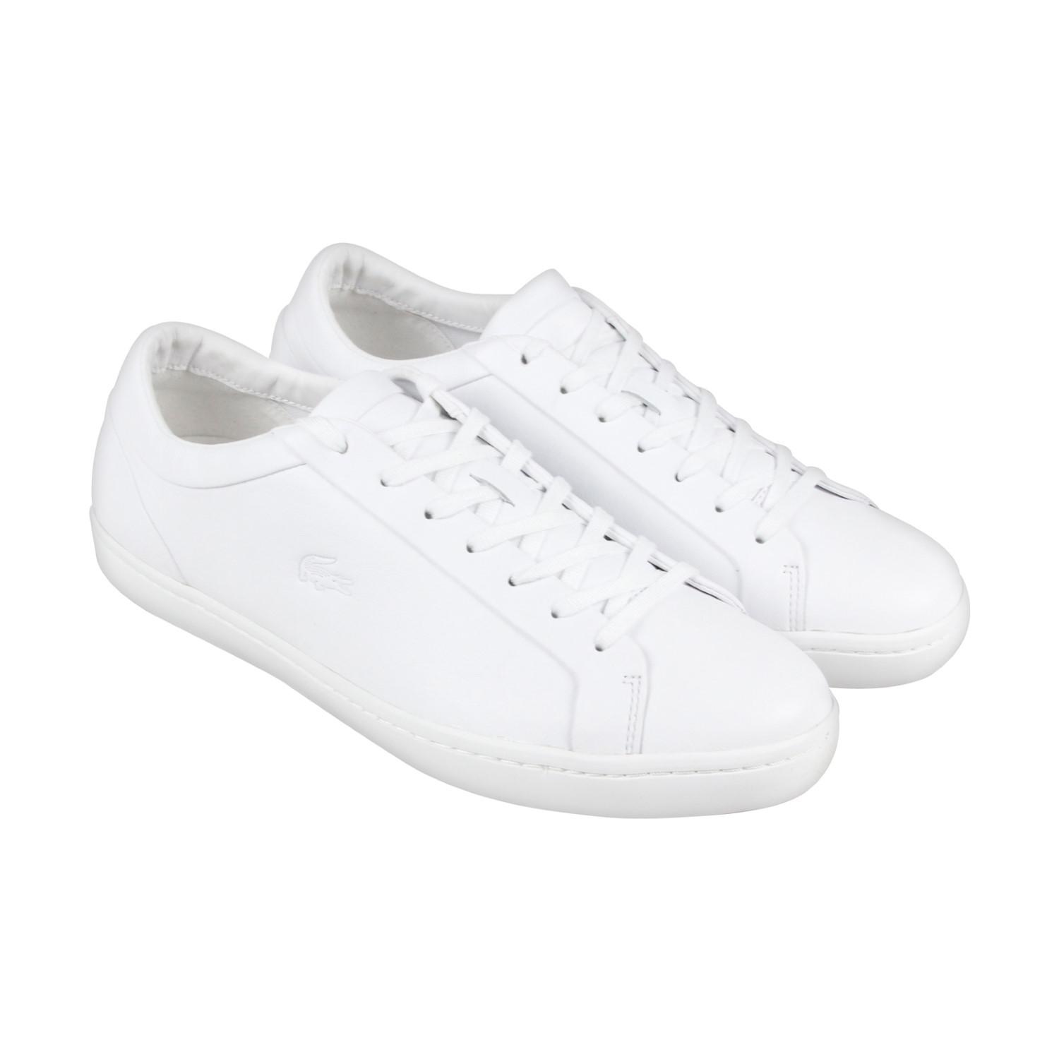 0578dc46e985b Lyst - Lacoste Straightset 316 1 Cam White Mens Lace Up Sneakers in ...