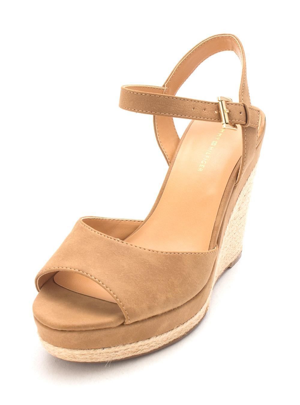 1c9d68ad Tommy Hilfiger - Brown Kali2 Peep Toe Wedge Sandals, Medium - Lyst. View  fullscreen