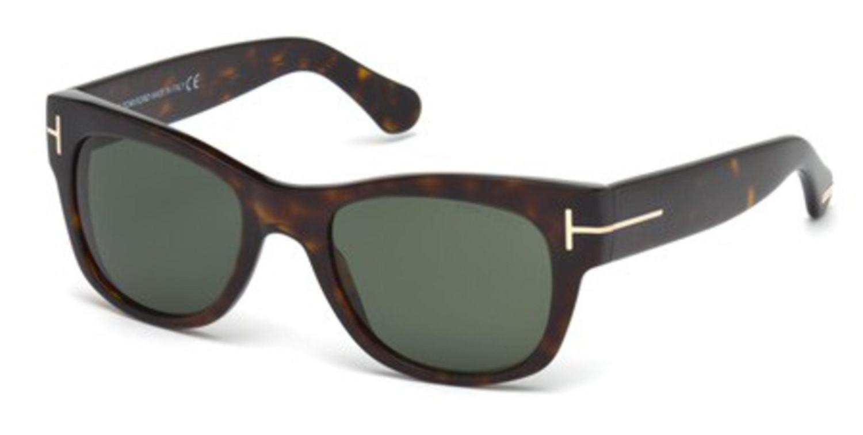 310d842a4eca Lyst - Tom Ford Sunglasses Ft 0058 Cary 52n Dark Havana   Green in ...
