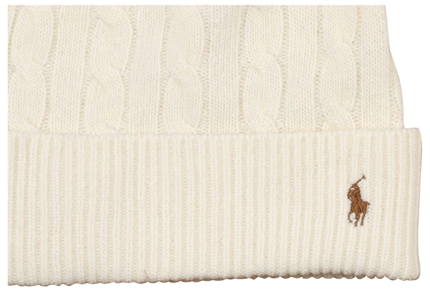 66caada6a87 Lyst - Polo Ralph Lauren Pony Cable Beanie in Natural