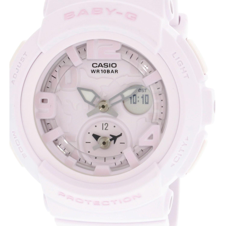 Lyst G Shock Baby Bga190bc 4b Pink Resin Japanese Quartz Sport Casio Bga 190 1b Gallery