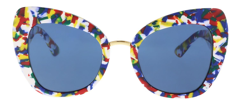 67a1a9d58be Lyst - Dolce   Gabbana 51mm Cat Eye Sunglasses in Blue