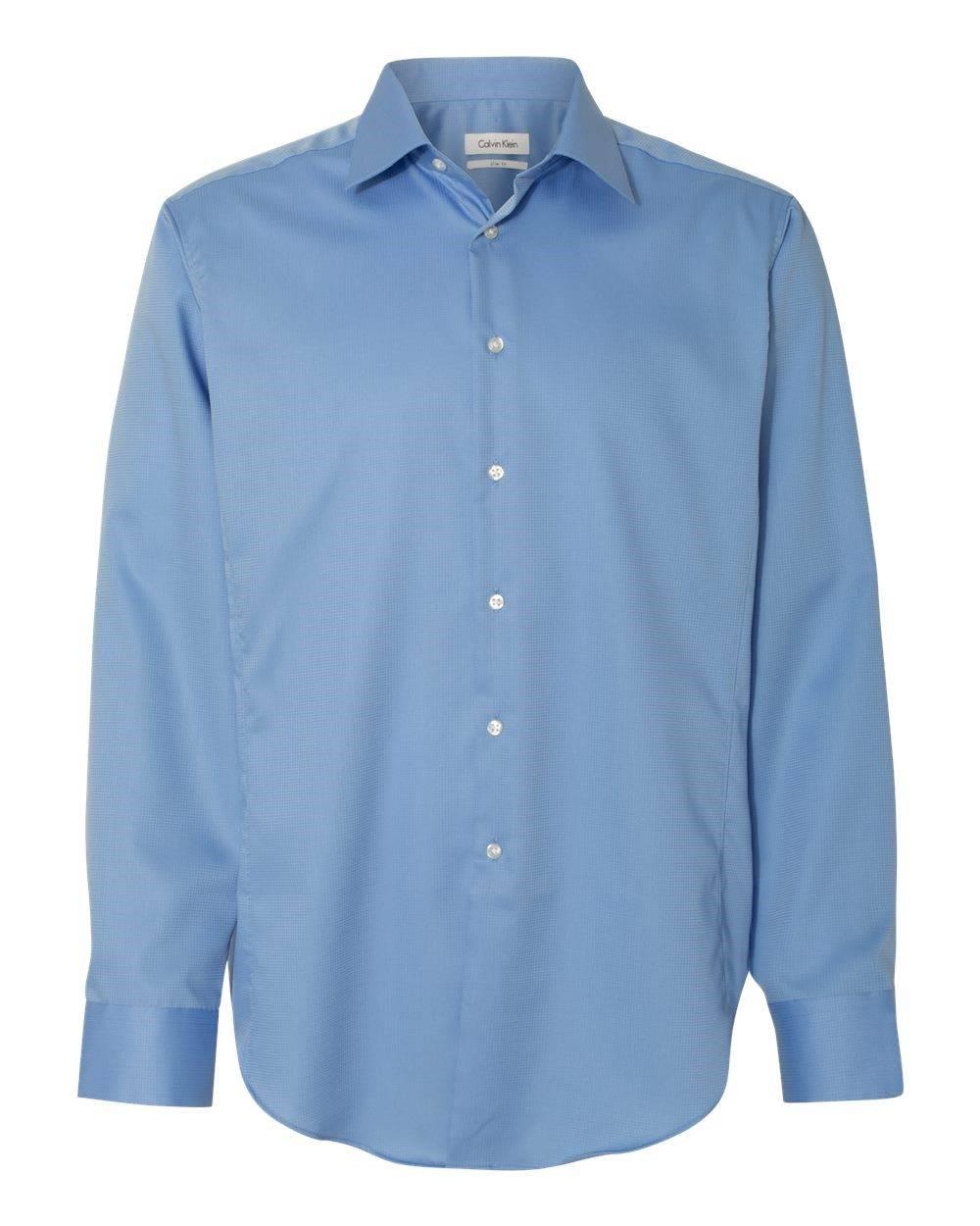 d522265392c Calvin Klein - Blue 13ck035 Button Down Shirt Slim Fit Non-iron Dobby  Pindot for. View fullscreen