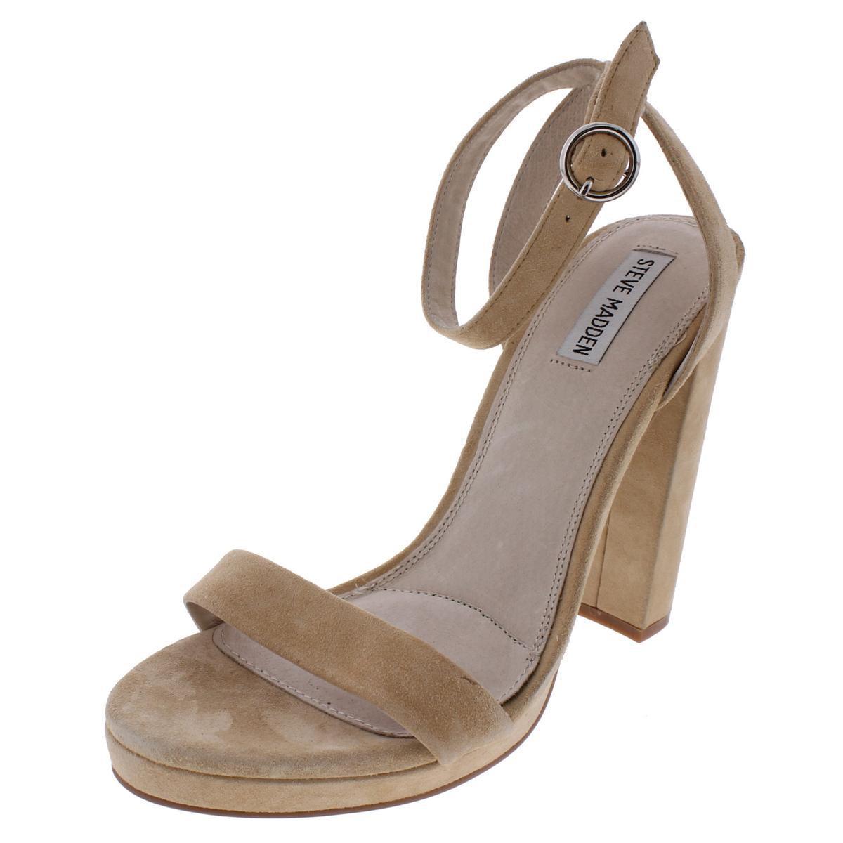 f352e44afc2 Lyst - Steve Madden Addon Open Toe Chunky Heel Dress Sandals