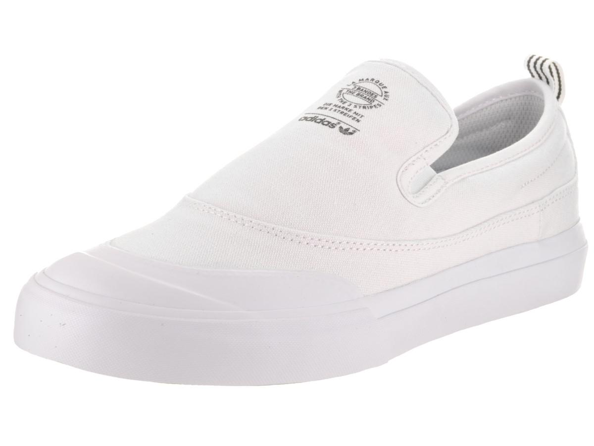 Matchcourt Lyst Adidas Slip ftwwht / ftwwht / ftwwht skate zapatos 10 hombres