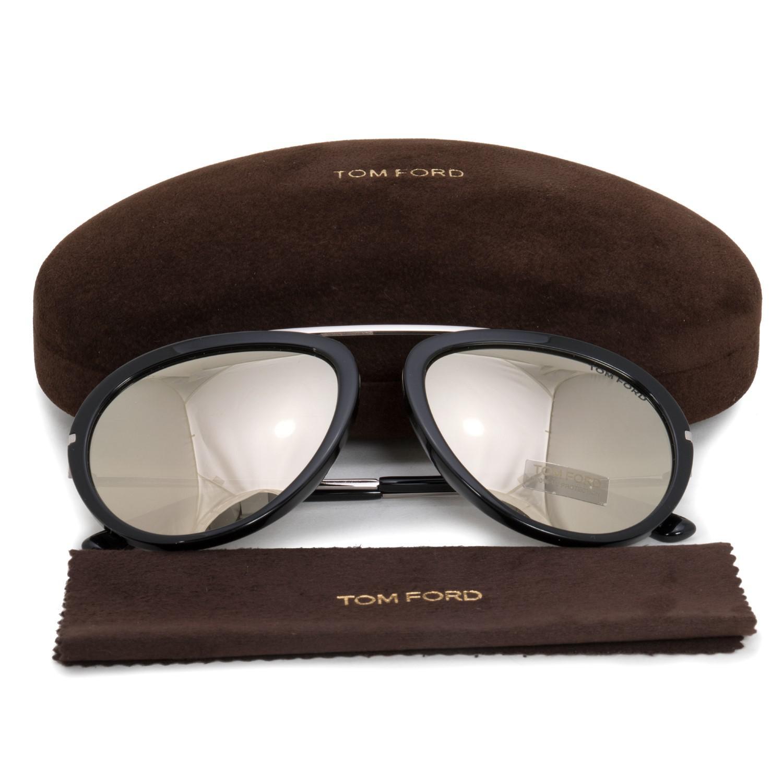 a421e0de957a1 Tom Ford Sunglasses Ft 0452 Stacy 01c Shiny Black   Smoke Mirror in ...