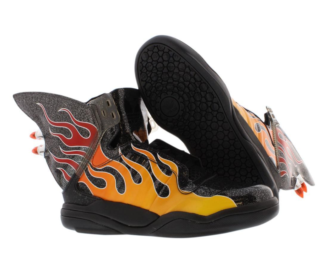 457b3ff5634d Lyst - adidas Originals Jeremy Scott Js Shark Flame Shoes Size 10 ...