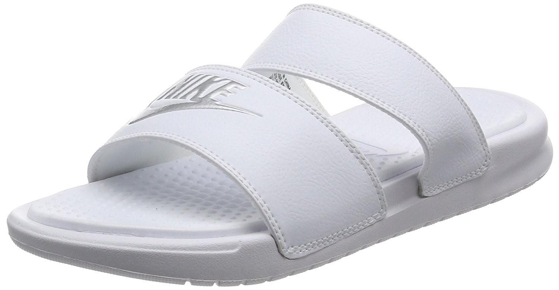 b43f7ad79 Lyst - Nike Benassi Duo Ultra Slide Sandals in Metallic