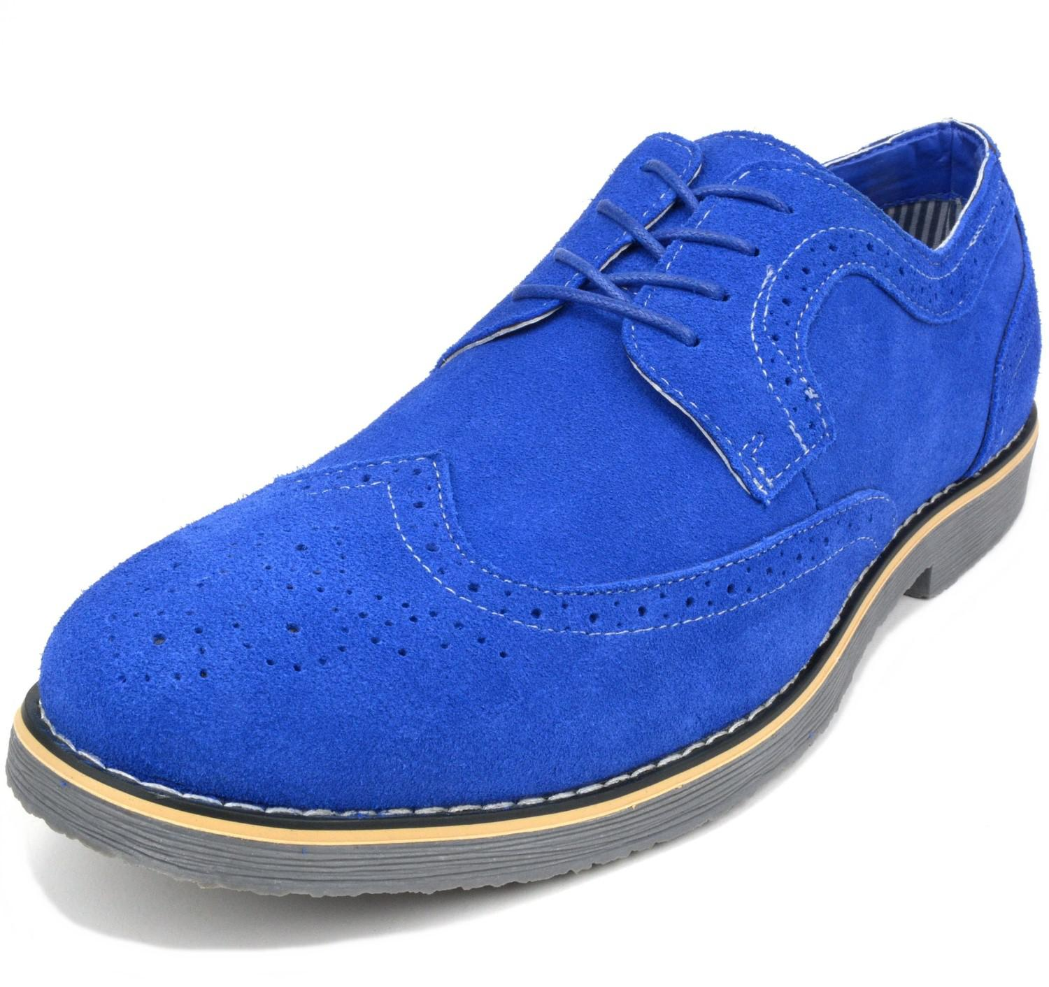ad5aa40999c8 Lyst - Alpine Swiss Beau Mens Dress Shoes Genuine Suede Wing Tip ...