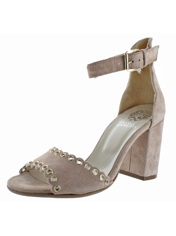 e451fa598a8 Vince Camuto. Women s Missy Suede Open Toe Block Heel Dressy Sandal Shoes