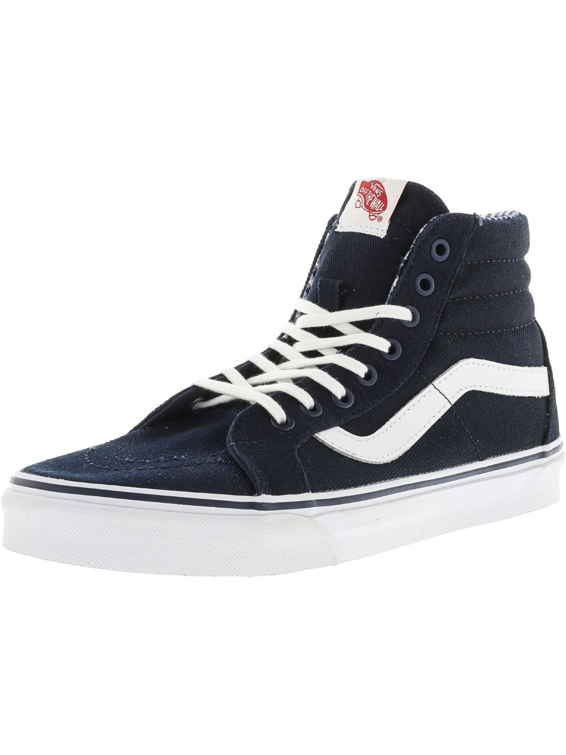 be911d9ea2 Lyst - Vans Sk8-hi Reissue Twill And Gingham Ankle-high Canvas ...