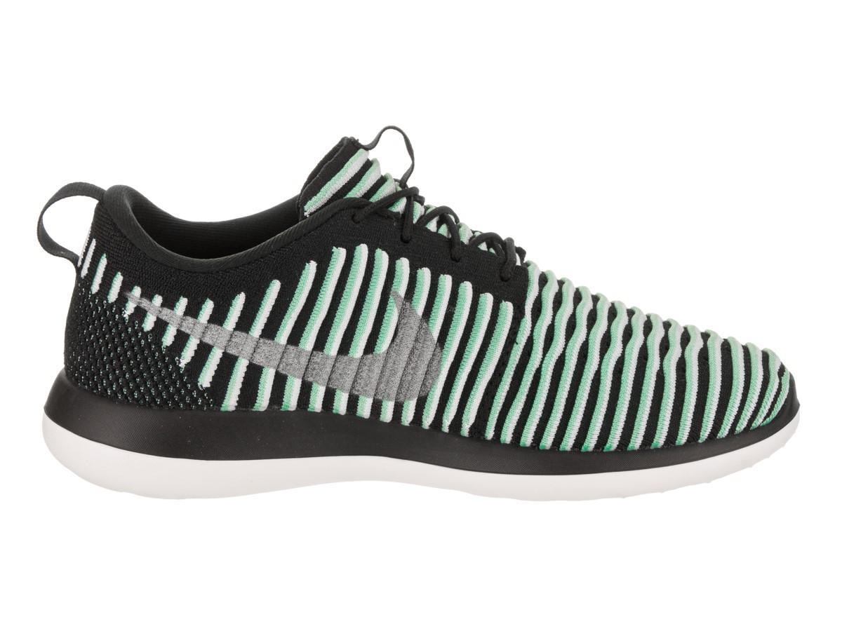 new arrival bc8a2 df064 Lyst - Nike Kids Roshe Two Flyknit (gs) Green Glow metallic Silver ...
