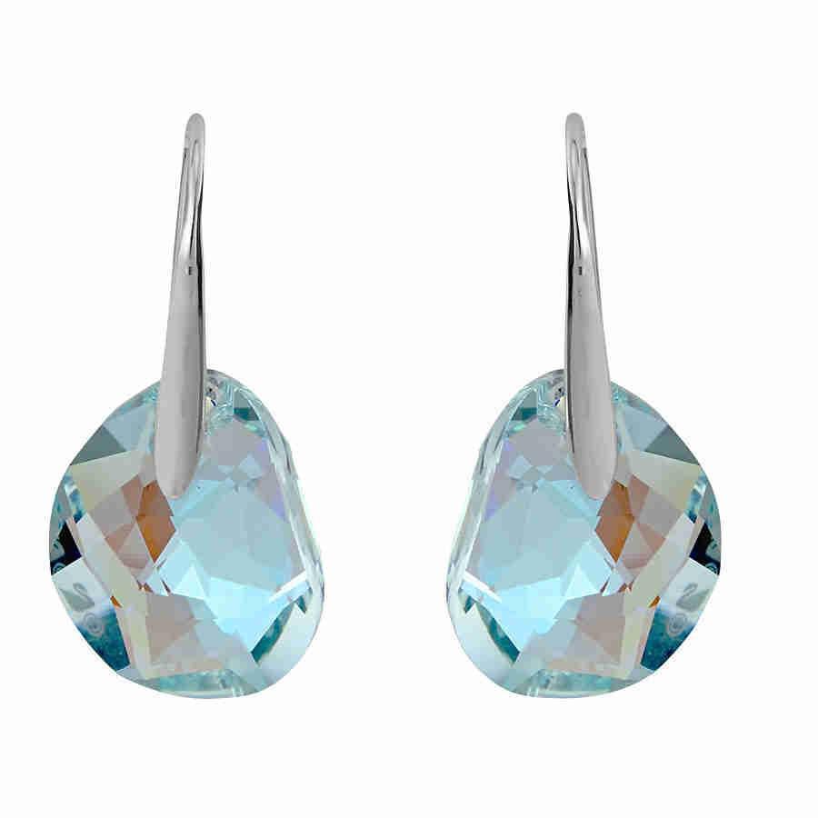 ea4cb5f37 Lyst - Swarovski Galet Light Azore Blue Crystal Earrings 949740 in Blue