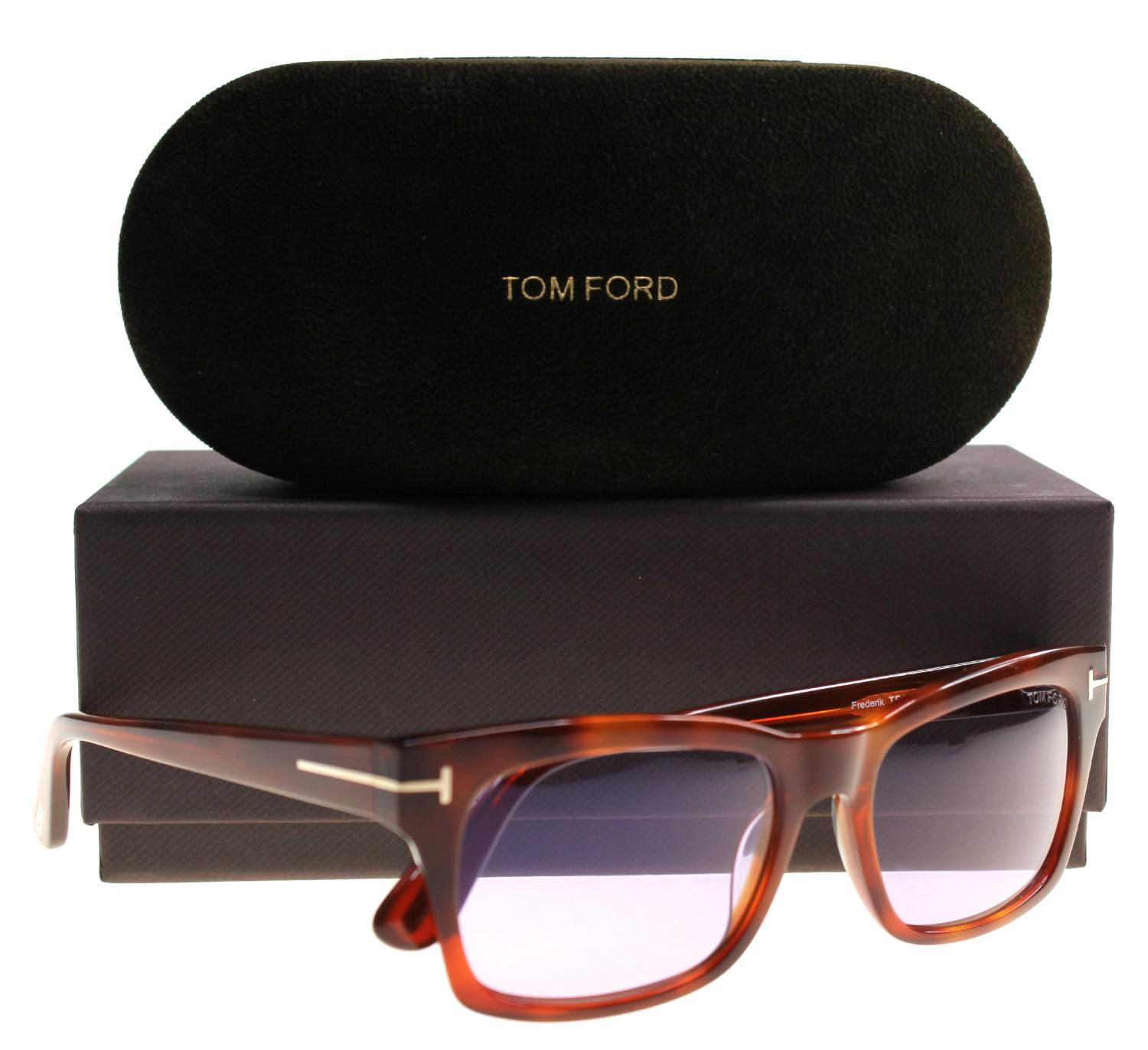 f8eb57b12f Lyst - Tom Ford Sunglasses Frederik Tf 494 Ft 53y Blonde Havana   Violet