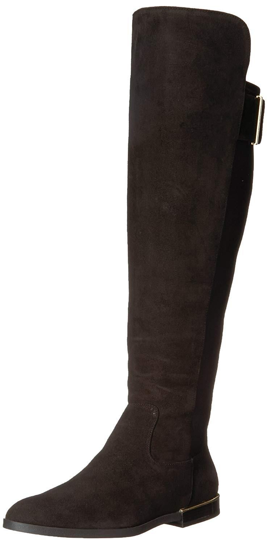 af86fc5e3d4 Calvin Klein. Women s Black Priya Suede Almond Toe Knee High Fashion Boots