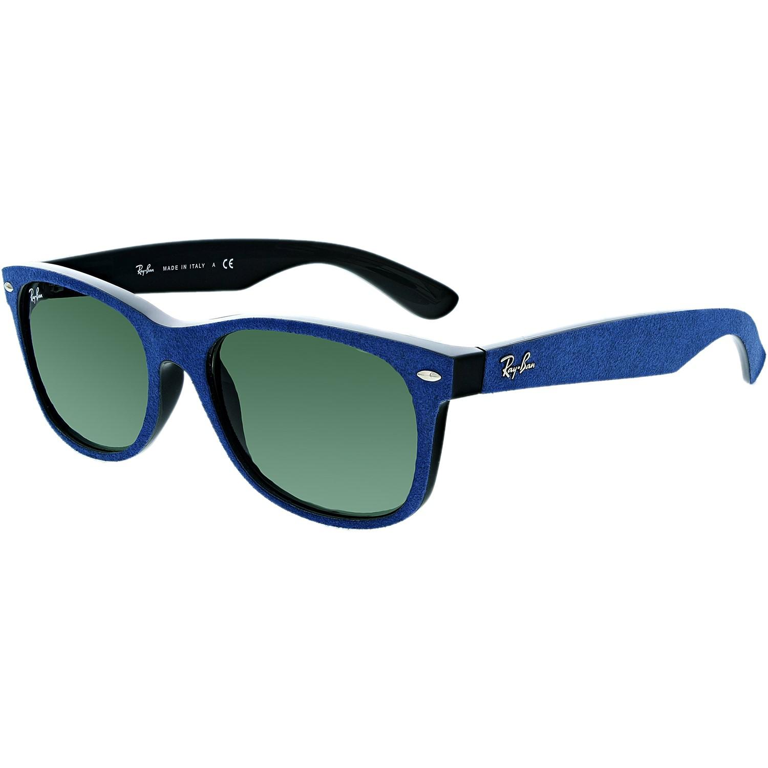 607026107aa Lyst - Ray-Ban New Wayfarer Rb2132-6239-55 Blue Square Sunglasses in ...