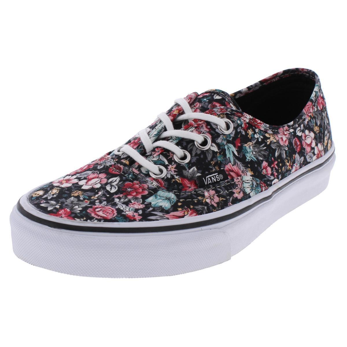67101fd847 Lyst - Vans Authentic Low Top Floral Print Casual Shoes