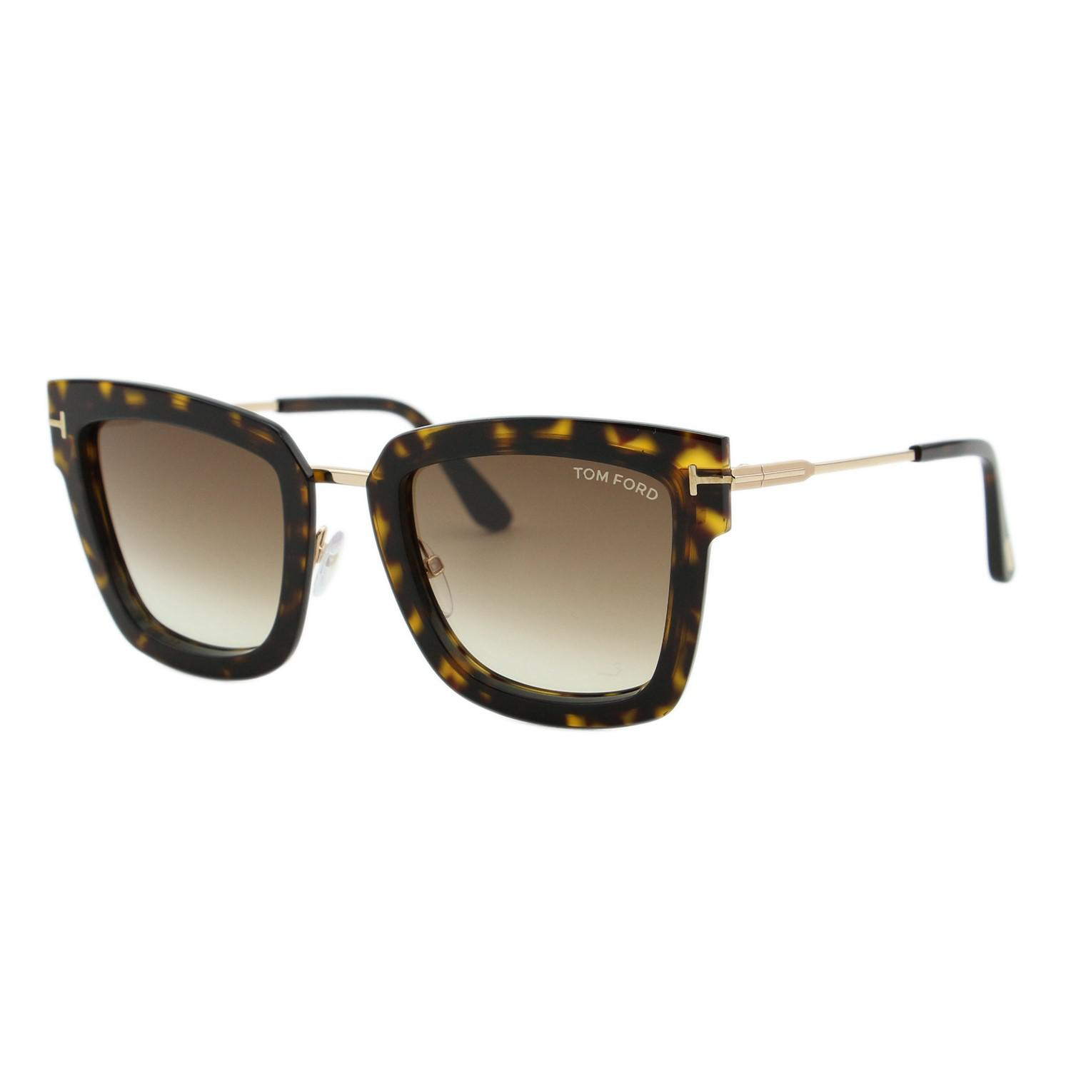 56081db4af Tom Ford Lara-02 Tf573 52f Havana Brown Gold Sunglasses 52mm Lara 02 ...