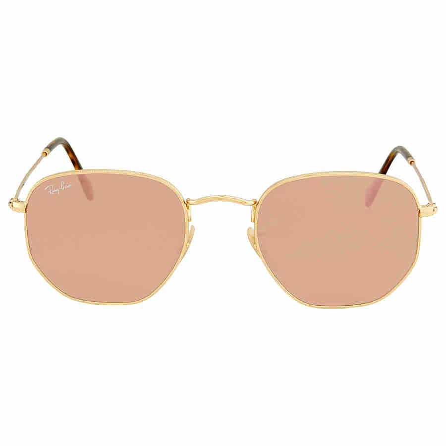 a70475cb068 Lyst - Ray-Ban Ray Ban Hexagonal Flat Lenses Copper Flash Round ...
