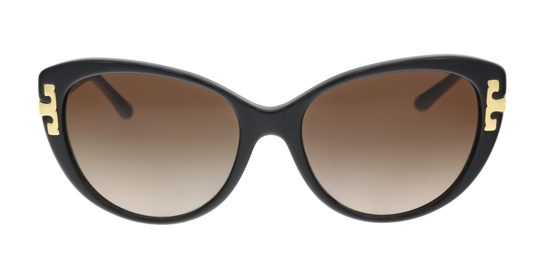 3724d53455 Lyst - Tory Burch Ty7092 137713 Cat Eye Sunglasses in Black
