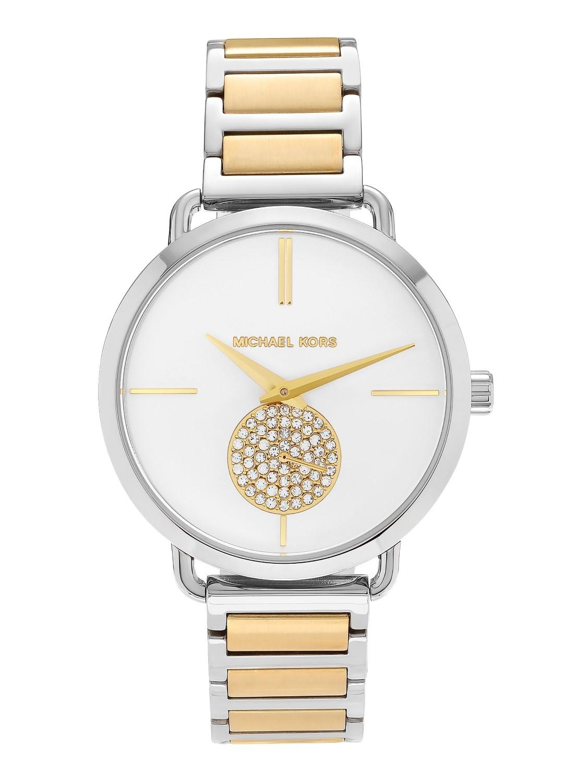 faadc55e721c Michael Kors - Gray Mk3679  portia  Stainless Steel Crystal Pave White Dial  Bracelet Watch. View fullscreen