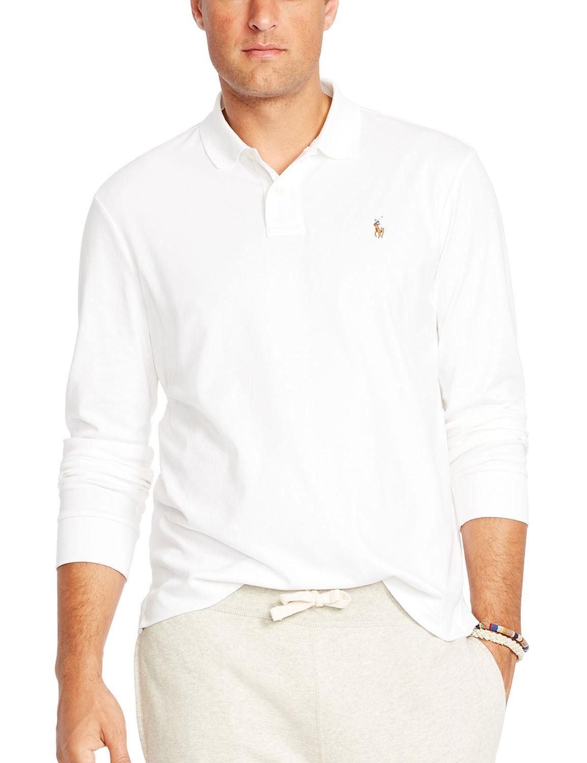 Polo Ralph Lauren. Men\u0027s Big And Tall Soft Touch Long Sleeve ...