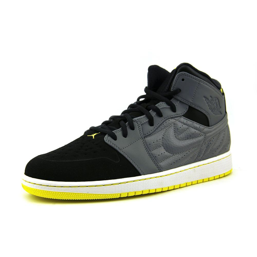 Air Jordan 1 Retro 99 Retro Basketball Shoes Cool Grey / Vibrant Yellow-Black-White 654140-032 Top T