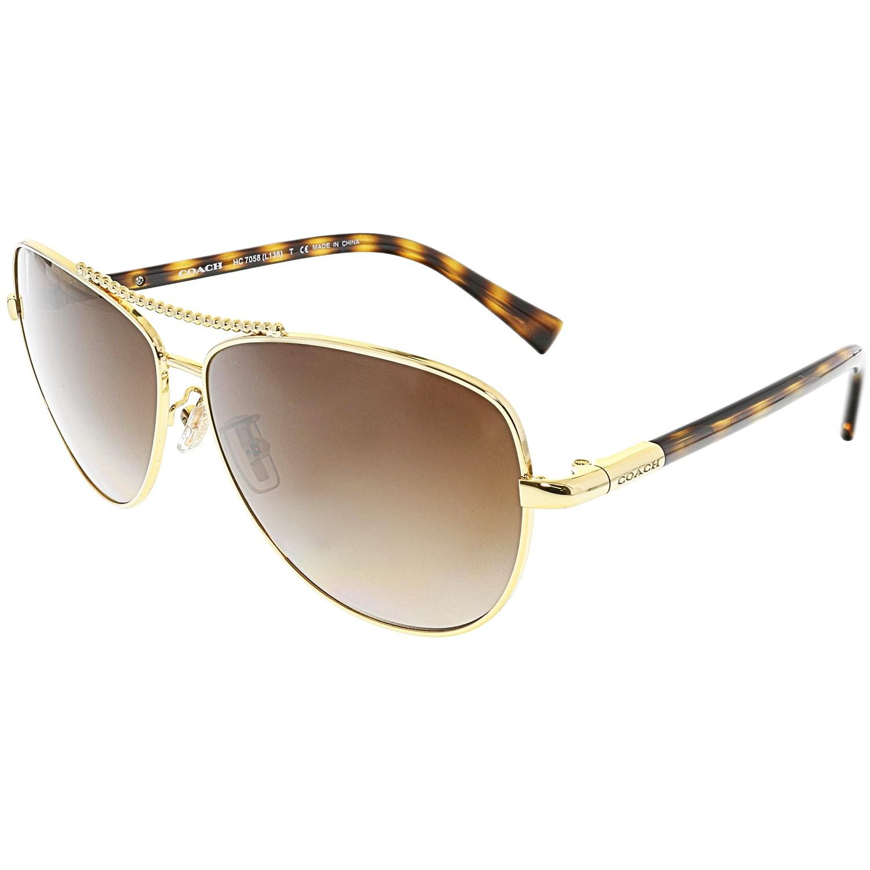 f34f8df71e45b ... store lyst coach gradient hc7058 923813 60 gold aviator sunglasses in  729b3 f788f