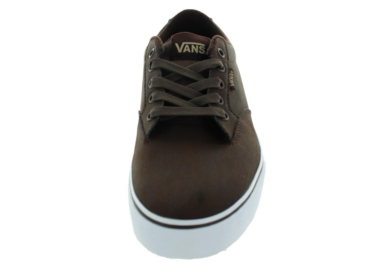 Vans   Black Winston (leather) Coco/white Skate Shoe 8 Men Us for. View  Fullscreen