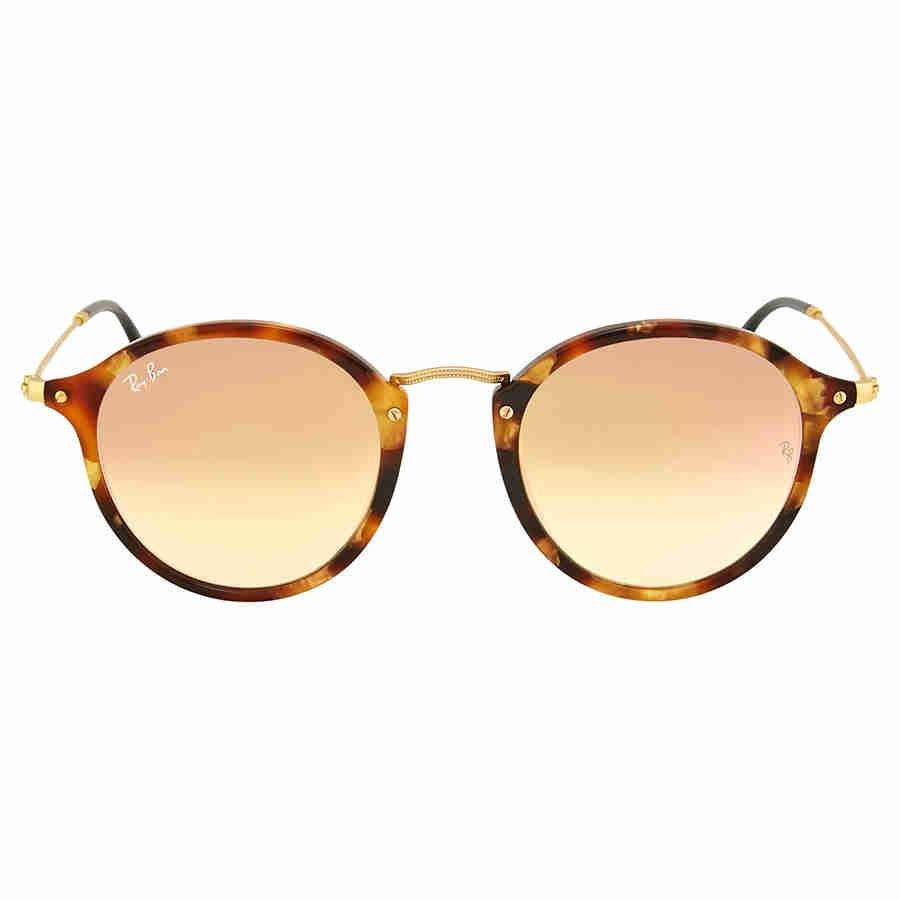 0ced1b1f91 Lyst - Ray-Ban Round Fleck Copper Gradient Flash Sunflasses Rb2447 ...