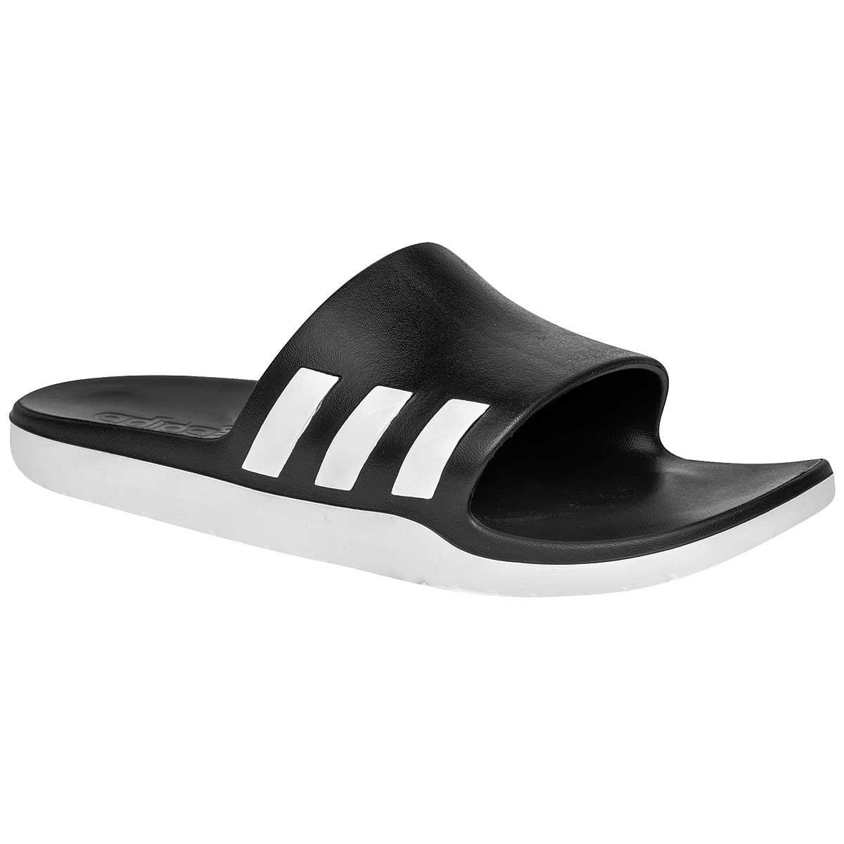 adidas. Men's Black Aqualette Cloudfoam Slides ...