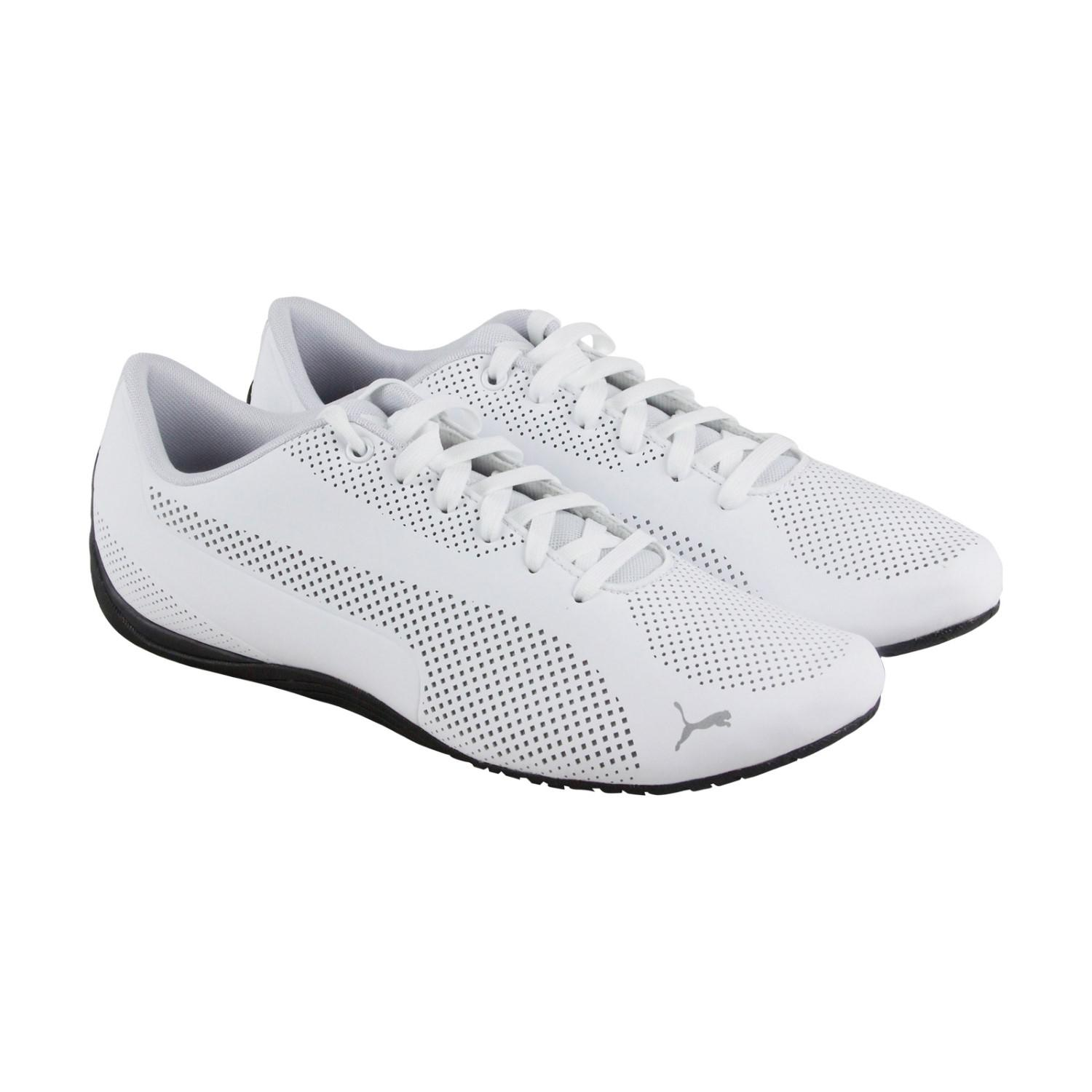 29304db076d131 Lyst - PUMA Drift Cat Ultra Reflective White Black Mens Lace Up ...