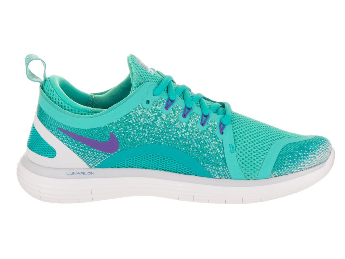 79ef3b6c87ead Lyst - Nike Free Rn Distance 2 Light Aqua hyper Grape Running Shoe ...