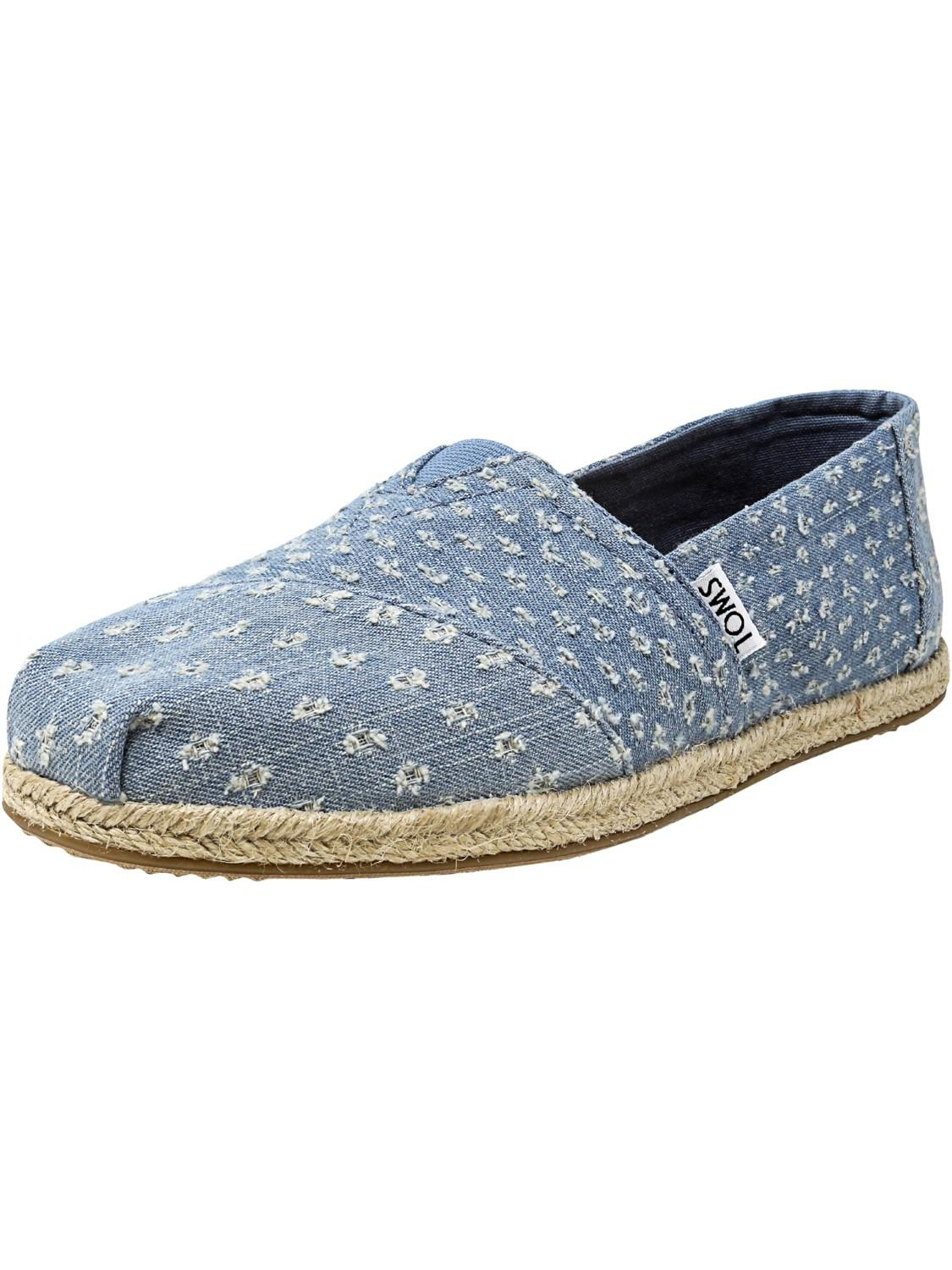 Alpargata Slippers Women seaglass torn denim rope Toms zZ8DS