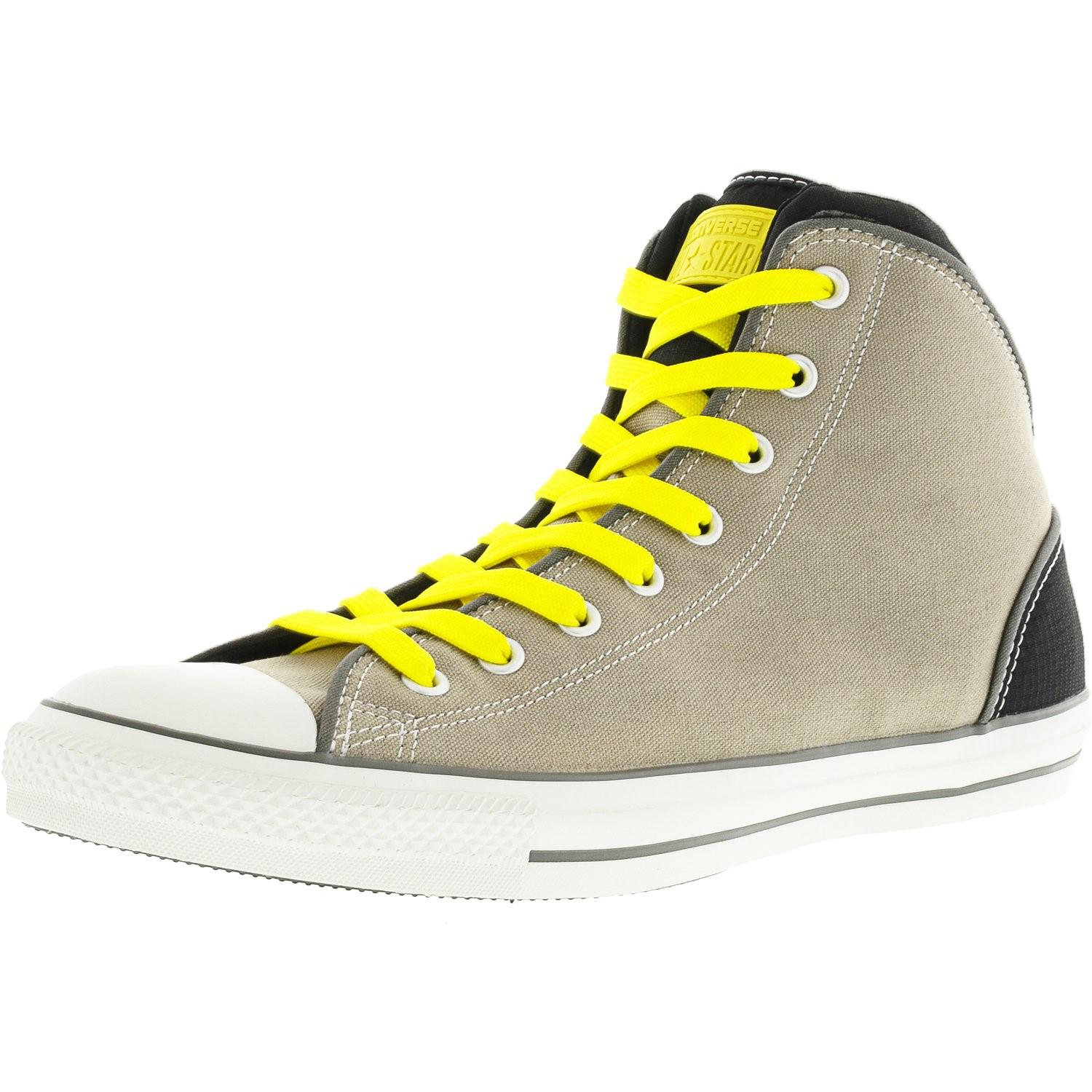 122e6db713c7 Lyst - Converse Chuck Taylor Static Hi Old Silver   Black High-top ...
