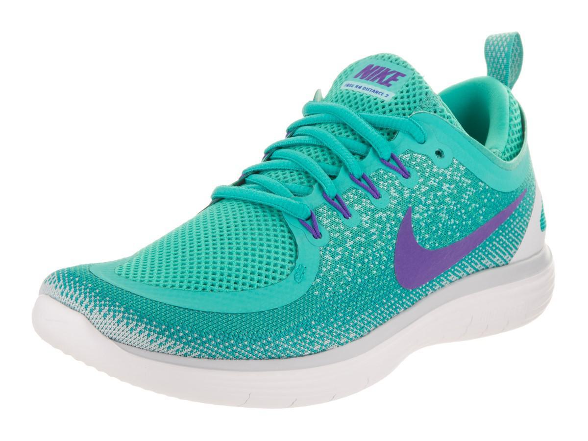 best cheap 8e3c3 950ea Nike Free Rn Distance 2 Light Aqua hyper Grape Running Shoe 9 Women ...