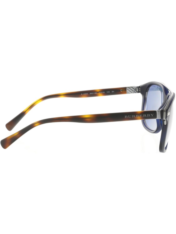 939b051b3e7 Lyst - Burberry Be4233-362180-57 Blue Square Sunglasses in Black for Men
