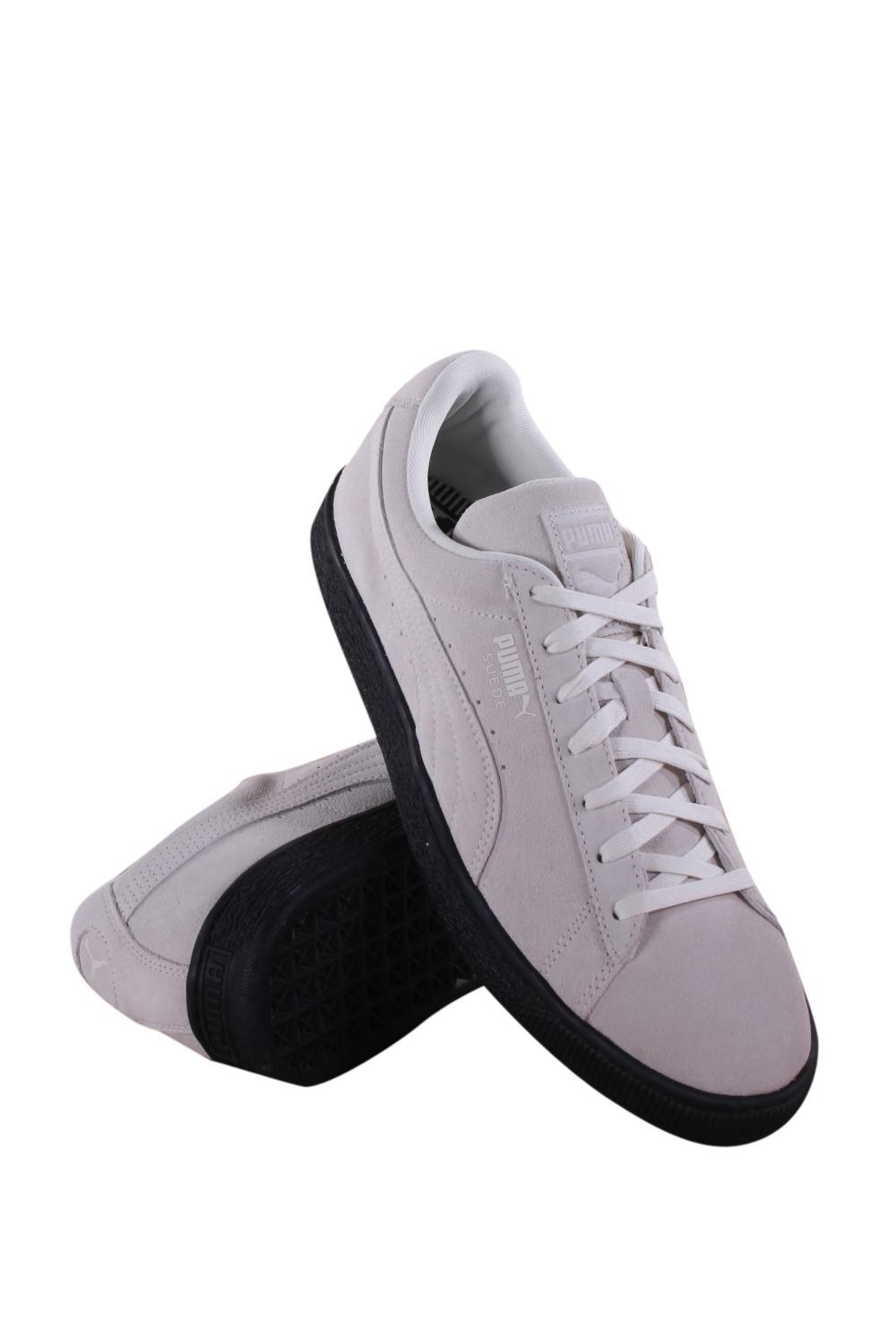 d3b8d46981b776 Lyst - PUMA Suede Black Sole Whisper White Lace Up Sneakers in Black ...