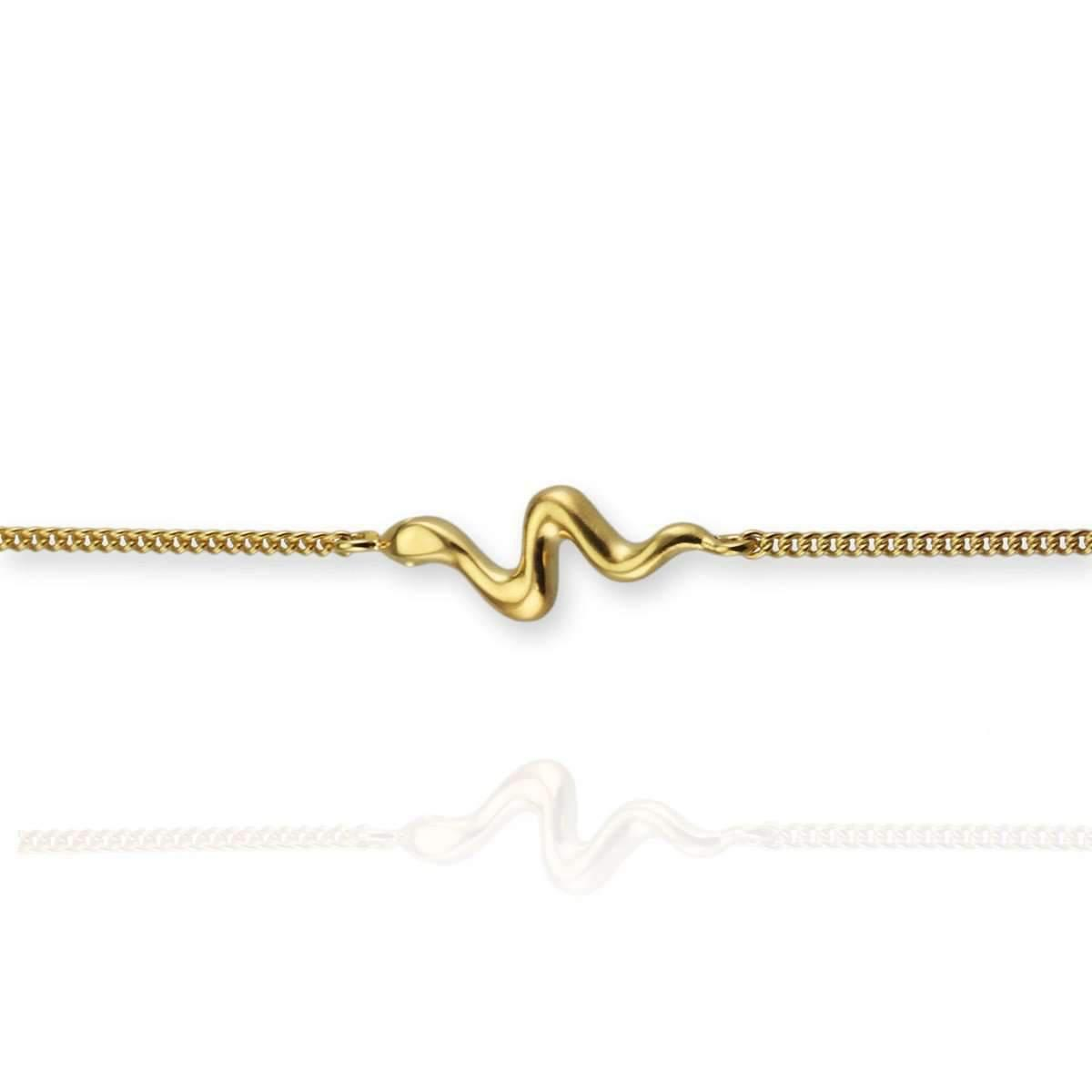 Jana Reinhardt Gold Plated Silver Snake Bangle With Black Diamonds sqdI7gBc