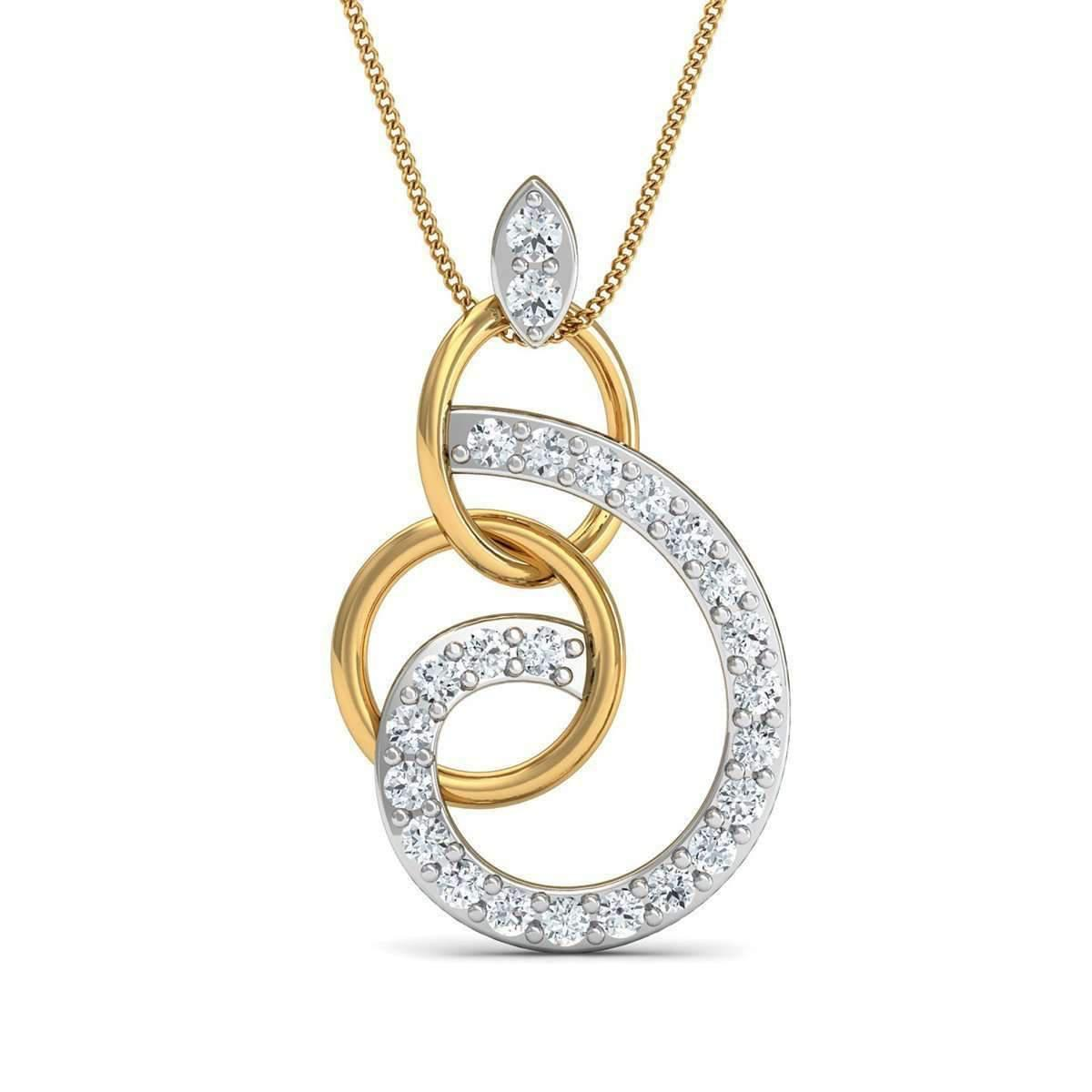 Diamoire Jewels Hand-carved Quality 10kt Rose Gold and Diamond Pendant in a Pave Setting BSOy3q1