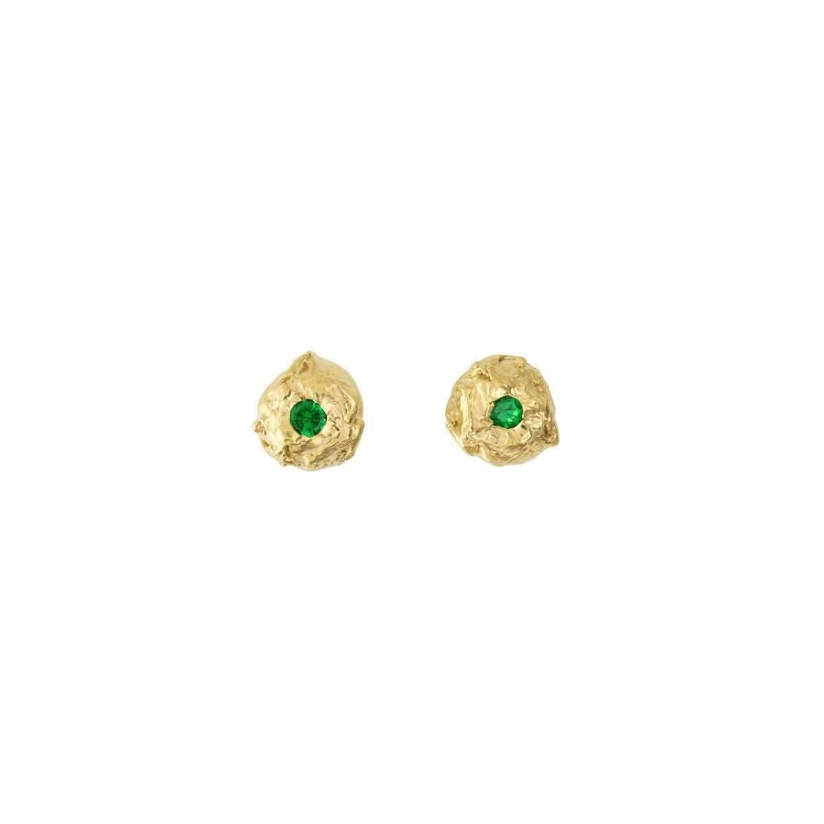 Deborah Blyth Jewellery Lula Stud Earrings With Tsavorites WNr2Xow