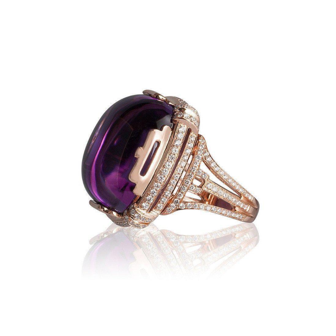 Goshwara Rock n Roll Amethyst Cabochon Rings - 6.5 (M) Ya4oG