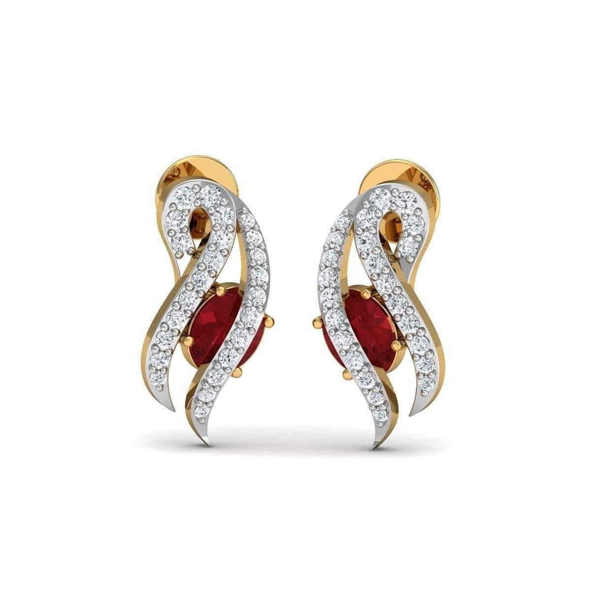 Diamoire Jewels Butterfly Diamond Earrings in 18kt Yellow Gold 3OcpwcbbH