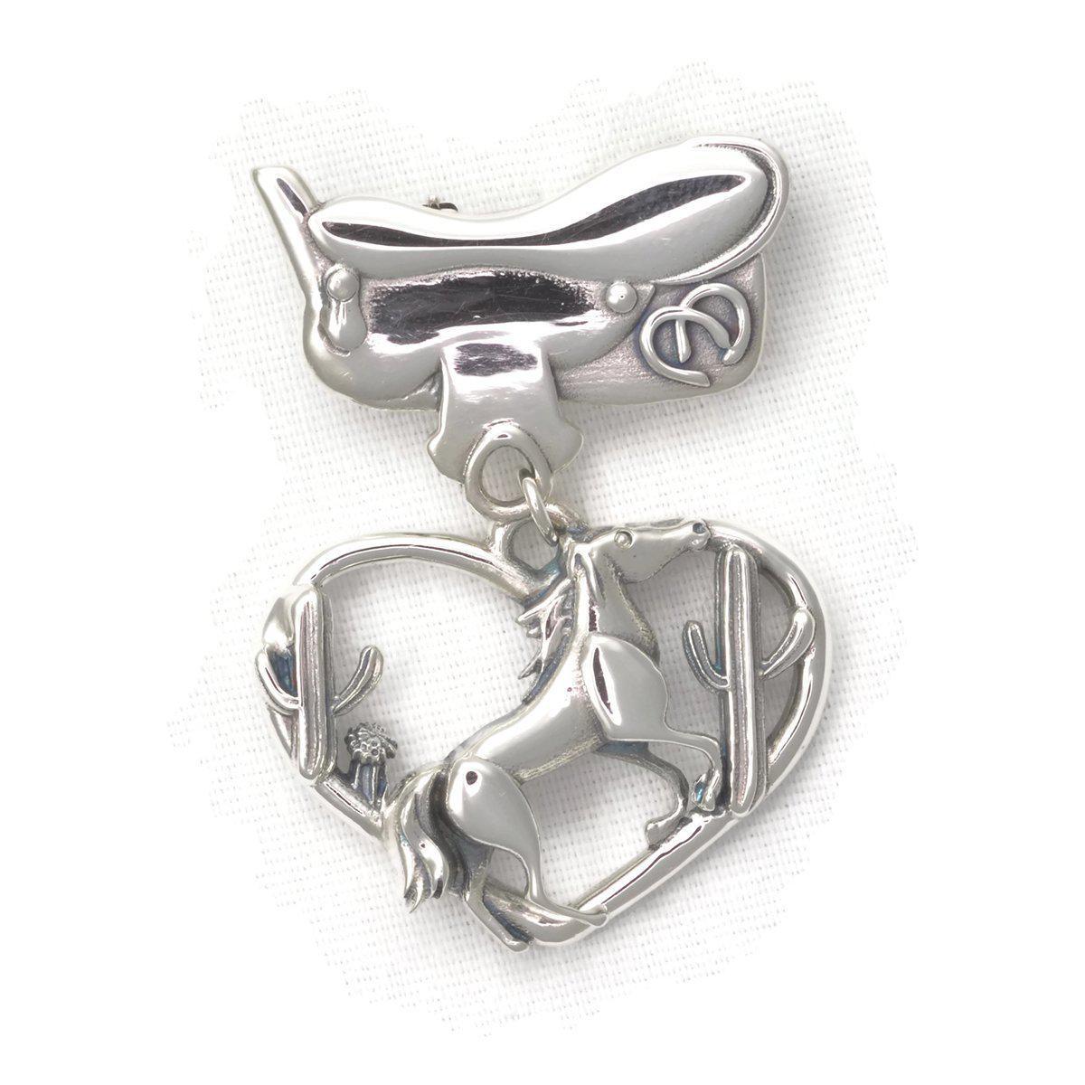 Donna Pizarro Designs Sterling Silver Arabian Horse Brooch jwmaYtkot