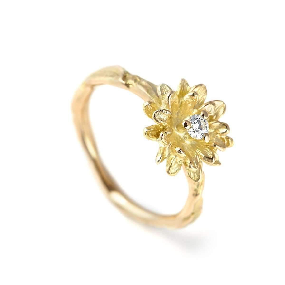 Lyst ehinger schwarz 1876 diamond flowers ring daisy in metallic ehinger schwarz 1876 womens metallic diamond flowers ring daisy izmirmasajfo
