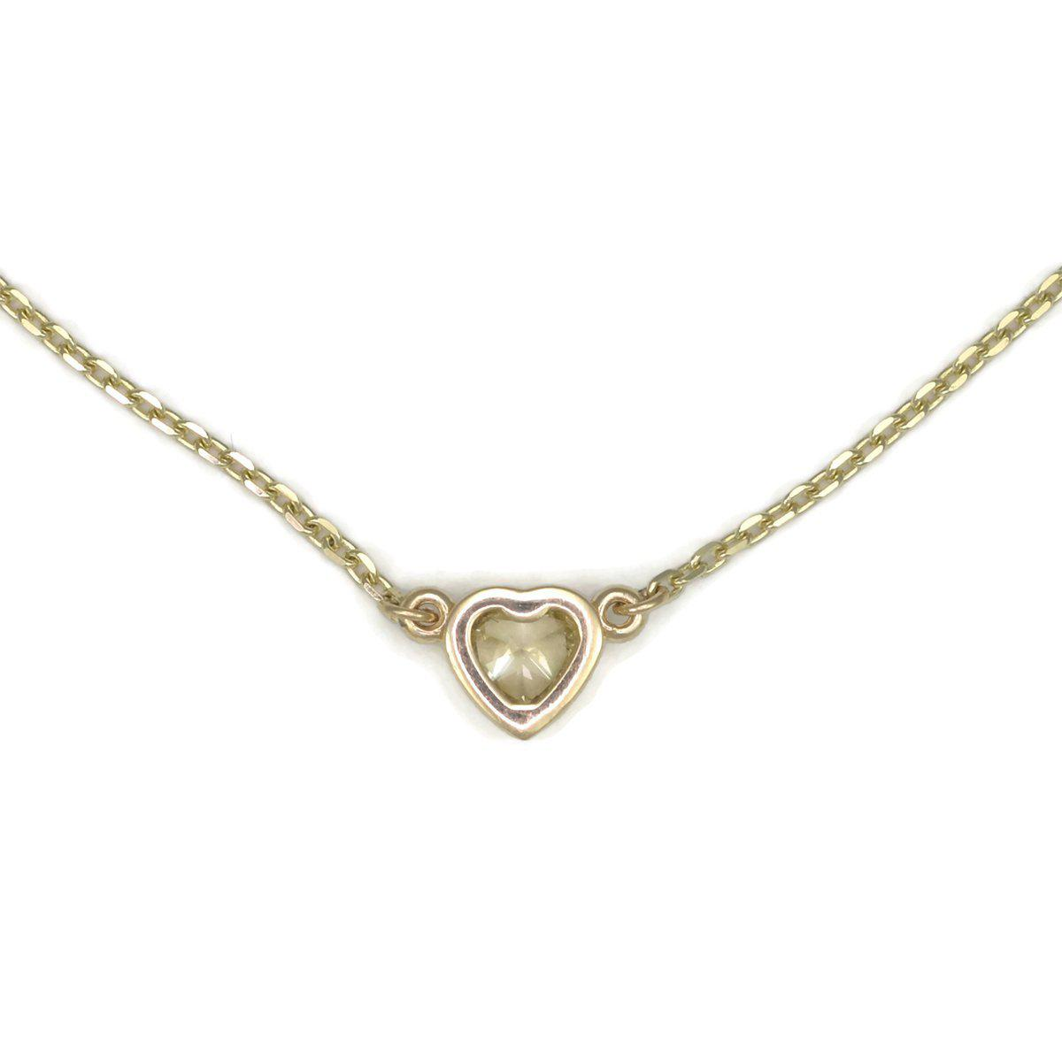 Donna Pizarro Designs 14kt Yellow Gold Yellow Diamond Heart Shaped Necklace TZgRDeX