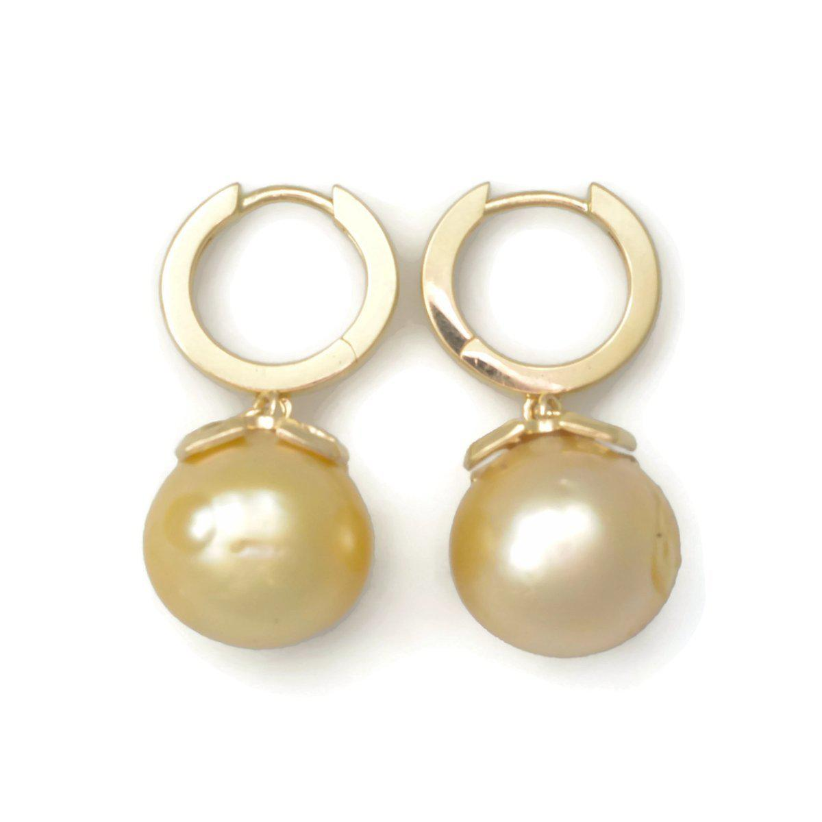 Donna Pizarro Designs 14kt Baroque Golden South Sea Earrings vi5tm