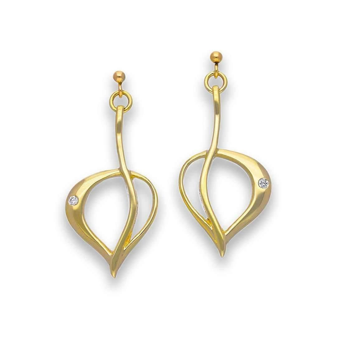 Ortak Gold Diamond Drop Earrings CapNF3yxy