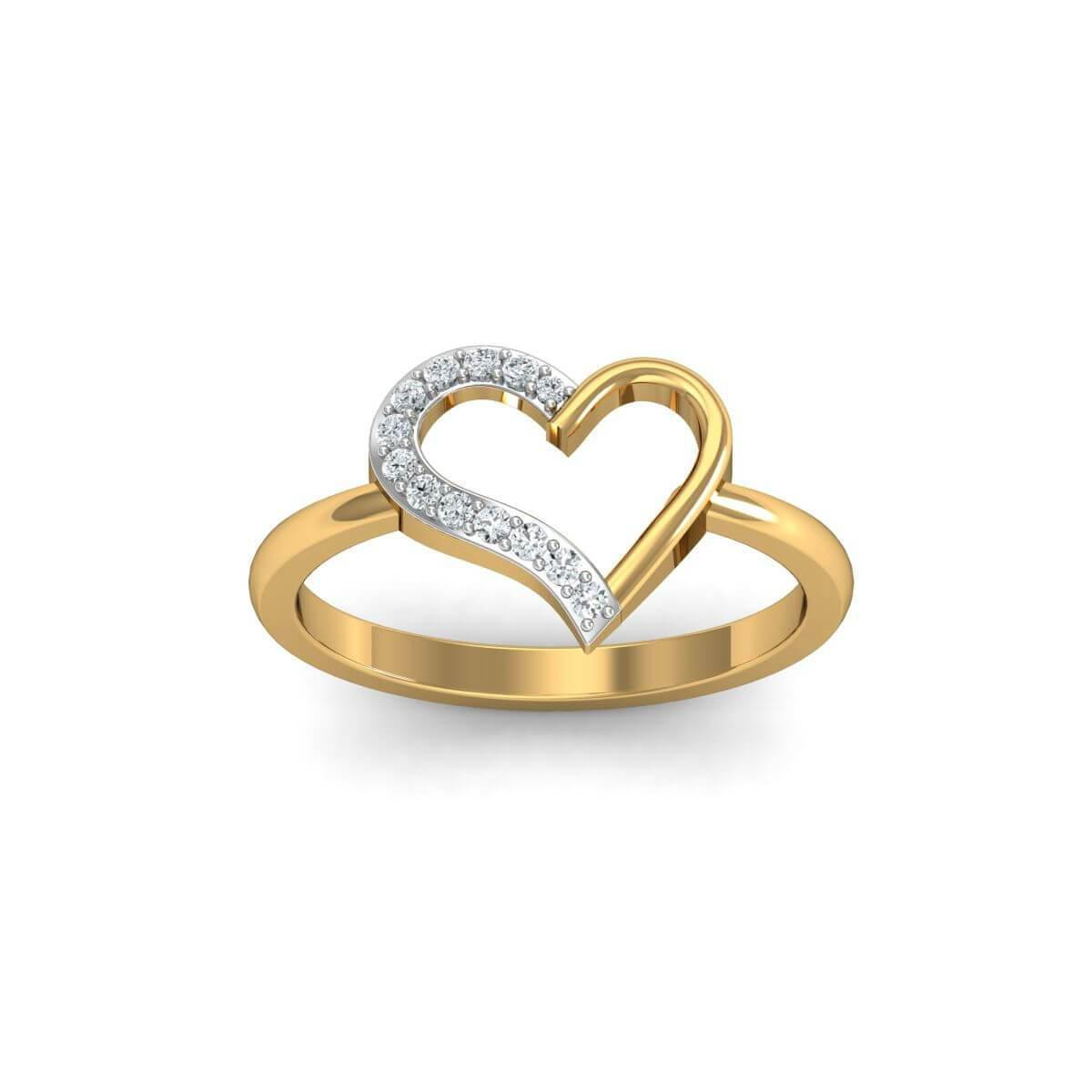 Diamoire Jewels 18kt Yellow Gold Pave 0.24ct Diamond Infinity Ring - UK G 1/4 - US 3 1/2 - EU 45 3/4 K5UDIKG